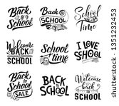 back to school hand drawn... | Shutterstock .eps vector #1351232453