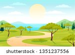 beautiful nature green park and ... | Shutterstock .eps vector #1351237556