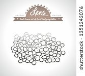 lens. hand drawn collection of... | Shutterstock .eps vector #1351243076