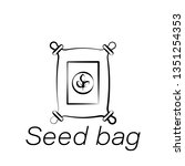 seed bag hand draw icon....