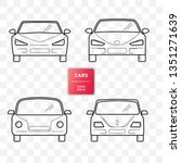 cars  front view  line design.... | Shutterstock .eps vector #1351271639