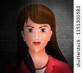 vector illustration of facial... | Shutterstock .eps vector #1351300583