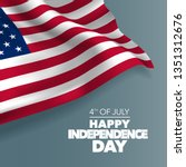 united states of america happy... | Shutterstock .eps vector #1351312676