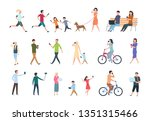 people with smartphones. many... | Shutterstock . vector #1351315466