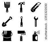 hardware tools icons | Shutterstock .eps vector #1351322030