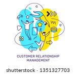 vector business illustration of ... | Shutterstock .eps vector #1351327703
