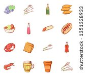 food images. background for... | Shutterstock .eps vector #1351328933
