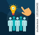 talent marketplace flat concept ...   Shutterstock .eps vector #1351334450