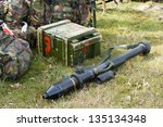 a bazooka lying on the ground... | Shutterstock . vector #135134348