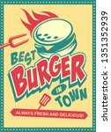 best burger in town retro... | Shutterstock .eps vector #1351352939