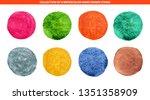 set of 8 multicolor watercolor...   Shutterstock .eps vector #1351358909