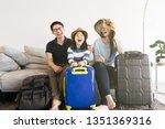 portrait asian family is... | Shutterstock . vector #1351369316