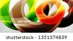 modern geometric circles... | Shutterstock .eps vector #1351374839