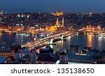 Istanbul. Galata Bridge. Turke...