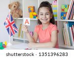 learning english. happy cute... | Shutterstock . vector #1351396283