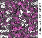 fashionable fabric pattern....   Shutterstock . vector #1351401599