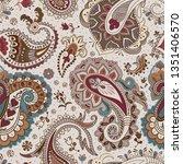 jacobean seamless pattern....   Shutterstock .eps vector #1351406570