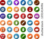 color back flat icon set  ... | Shutterstock .eps vector #1351414496