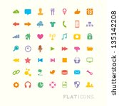 colourful flat icon designs for ...
