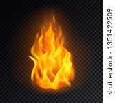 isolated fire emoji on... | Shutterstock .eps vector #1351422509