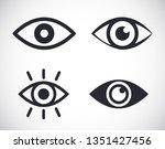eye icons symbol illustration... | Shutterstock .eps vector #1351427456