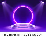 stage podium with lighting ... | Shutterstock .eps vector #1351433399