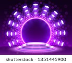 stage podium with lighting ... | Shutterstock .eps vector #1351445900