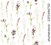 hand drawing watercolor spring... | Shutterstock . vector #1351446710