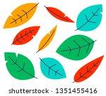 trees pattern. spring pattern... | Shutterstock .eps vector #1351455416
