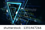 tech futuristic abstract... | Shutterstock . vector #1351467266