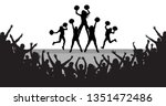 cheerleaders on the scene and... | Shutterstock .eps vector #1351472486