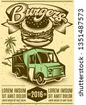 good burger car. fast food... | Shutterstock .eps vector #1351487573