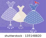 pretty dresses in a row with... | Shutterstock .eps vector #135148820