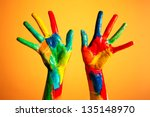 Painted Hands  Colorful Fun....