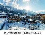 house architecture and snow... | Shutterstock . vector #1351493126