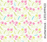 simple floral pattern with... | Shutterstock .eps vector #1351499423