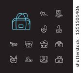 shoes icons set. gumboots and...