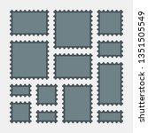 postal postage mark stamp... | Shutterstock .eps vector #1351505549