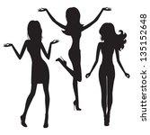 Fashion Women. Silhouettes On...