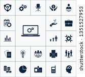 vector set of business icons.... | Shutterstock .eps vector #1351527953