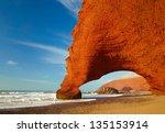 red archs on atlantic ocean... | Shutterstock . vector #135153914