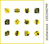 melody icons set with adapter... | Shutterstock .eps vector #1351540799