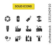eco icons set with sea...