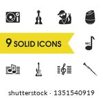 music icons set with oboe ...