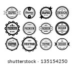 set of vintage icons | Shutterstock .eps vector #135154250