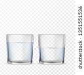 realistic glasses for drinks... | Shutterstock .eps vector #1351551536
