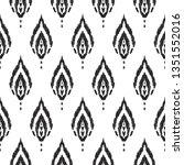 black and white seamless...   Shutterstock .eps vector #1351552016