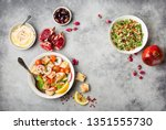 middle eastern arabic dishes... | Shutterstock . vector #1351555730