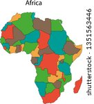 africa map vector illustration  | Shutterstock .eps vector #1351563446