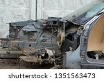 part of the frame of the old...   Shutterstock . vector #1351563473